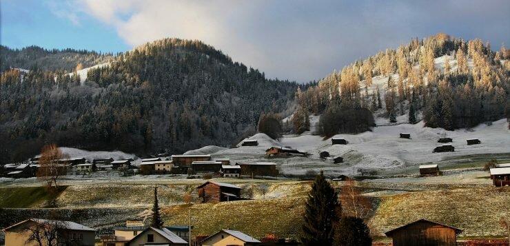 Погода в Швейцарии в феврале
